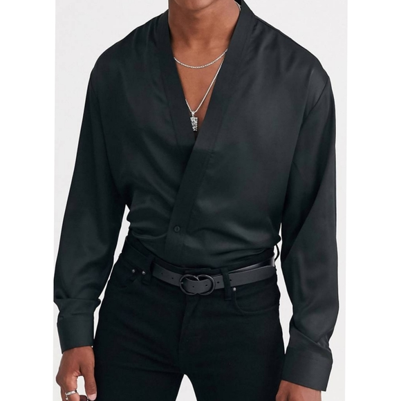 Heart & Dagger Kimono Shirt Button Up Longsleeve
